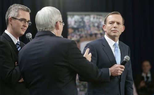 Second Debate: Mr Rudd's aggressive opening didn't last