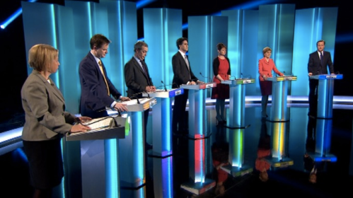 Seven leaders face off (Source: ITV)