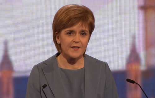 The clear winner, again: Nicola Sturgeon (source BBC)